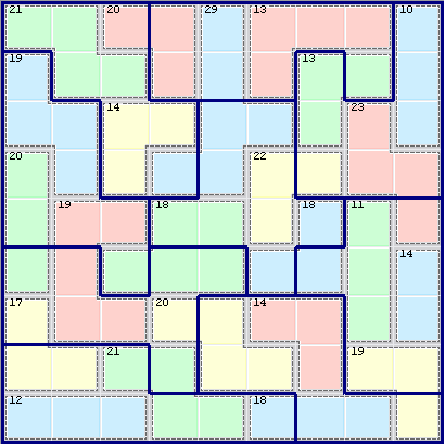 Texas Jigsaw Killer Sudoku 033